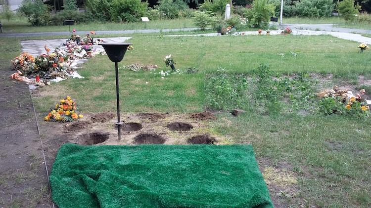 Urnengräber vor einer ordnungsbehördlichen Besatttung