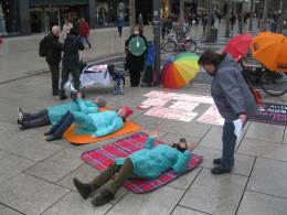 Straßenaktion in Frankfurt